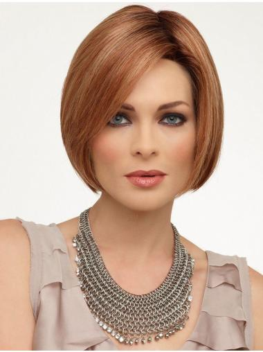 Bobs Chin Length Stylish Synthetic Wigs Lace Front