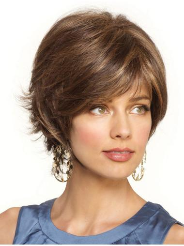 Fabulous Blonde Short Synthetic Wavy Lace Front Wigs
