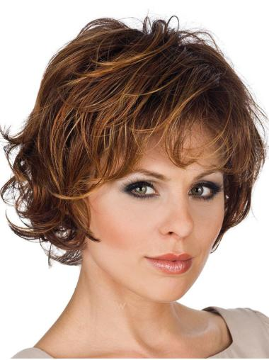 Designed Lace Front Straight Short Heat Resistant Synthetic Wigs