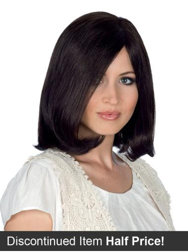Black Straight Incredible Wigs 100% Hand-Tied Human Hair