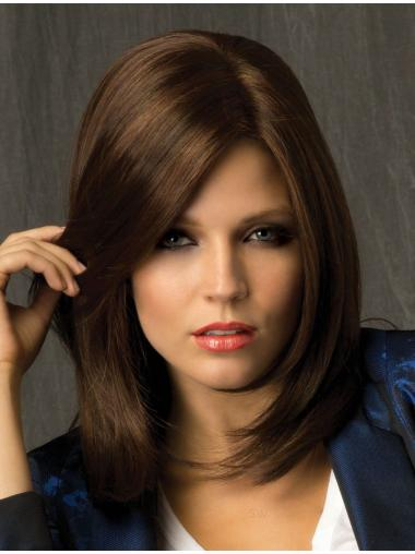 Brown Straight Shoulder Length Gorgeous Hair For Sale Lace Wigs