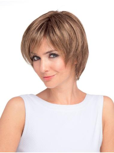 Monofilament Layered Short 9 Inches Fashionable Short Wigs
