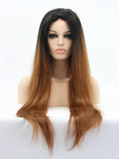 Straight 26 Inches Hairstyles African American Hair Wig 100 Percent