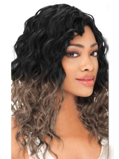 Gorgeous 20 Inches Remy Human Hair Long Wavy Wig Black Women