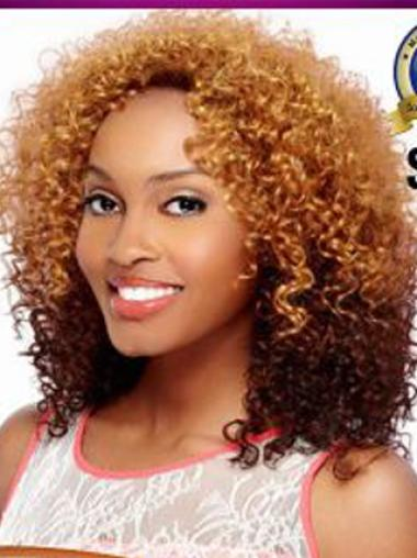 Cheapest 14 Inches Remy Human Hair Online Curly Wigs Black Women Long