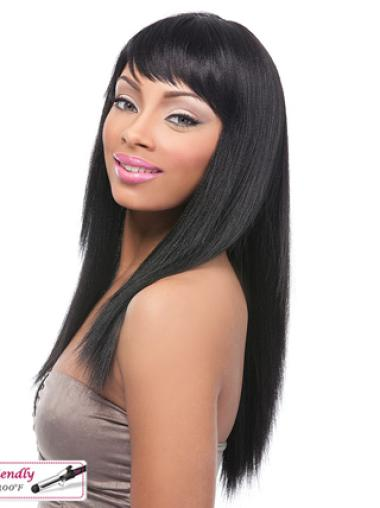 Remy Human Hair 18 Inches Lace Front Natural Yaki Wigs Black Women