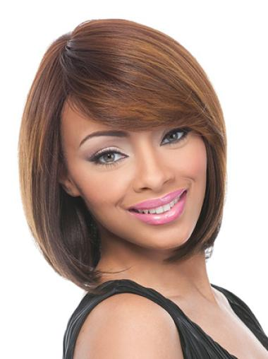 Remy Human Hair 12 Inches Lace Front Wig Styles For Young Black Women
