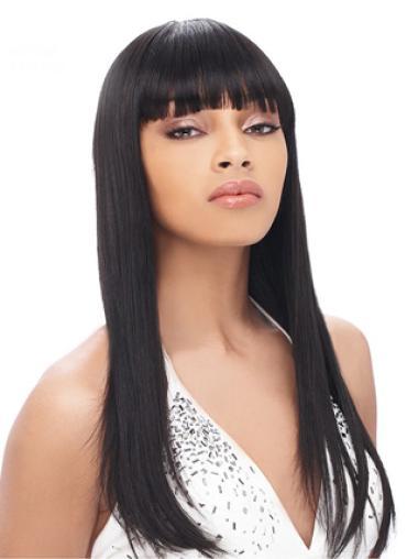 Durable Remy Human Hair Long Yaki High Quality Wigs For Black Women