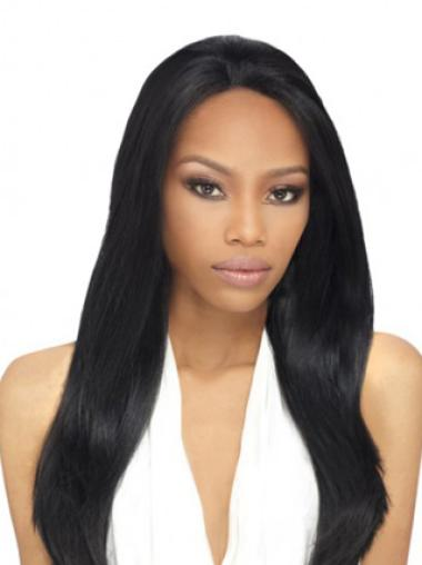 Incredible Remy Human Hair Long Yaki African American Wigs