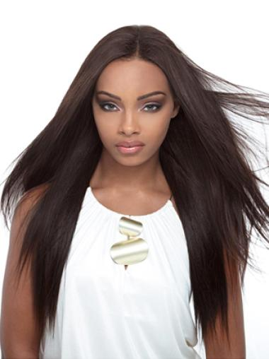 Yaki Black Without Bangs Lace Front Synthetic Wigs Cheap