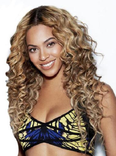Lace Front Remy Human Hair 24 Inches Popular Beyonce Curly Wig