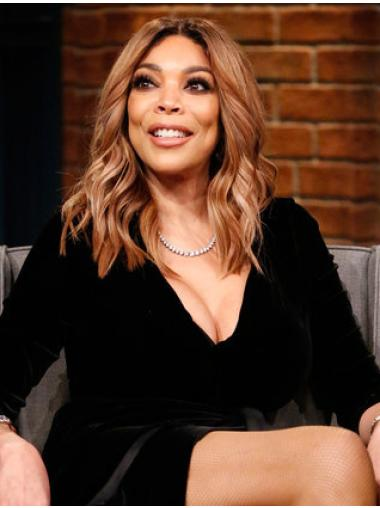 Hairstyles Shoulder Length Wavy Without Bangs Blonde Wendy Williams Wigs