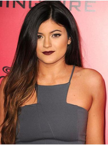 """Straight 26"""" Full Lace Long Without Bangs Ombre/2 Tone Fashion Kylie Jenner Wigs"""