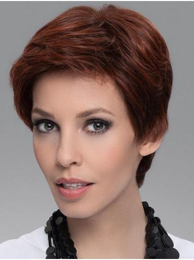 """4"""" Straight Durable Boycuts 100% Hand-tied Synthetic Wigs"""