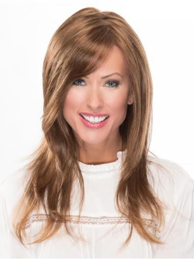 "With Bangs 100% Hand-tied 16"" Wavy Auburn Long Wigs"