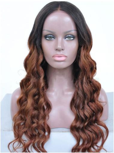 Without Bangs Long Full Lace African American Woman Wigs
