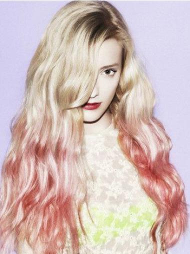 "Wavy 26"" Fabulous Real Natural Hair Wigs"