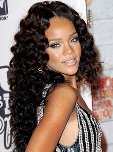 Lace Front Black Without Bangs Natural Rihanna Wig Brand