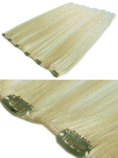 Straight Fashion Real Hair Extensions For Short Hair