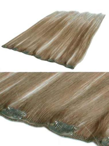 Comfortable Blonde Straight Human Hair Wigs Extensions