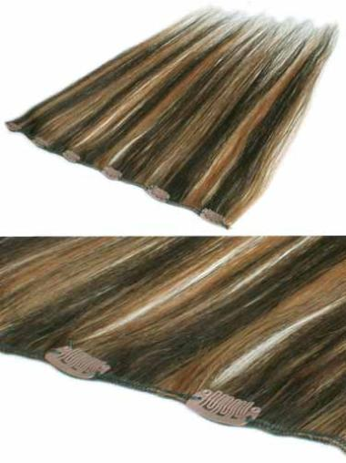 Straight Brown Remy Human Hairhair Extensions For Thinning Hair