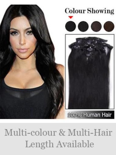Remy Human Hair Amazing Straight Black Extensions And Wigs