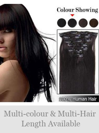 Straight Brown Real Hair Extensions For Short Hair