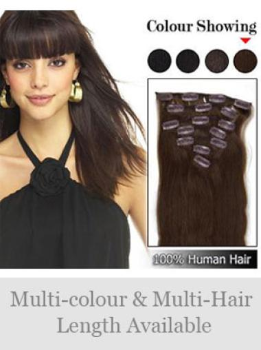 Remy Human Hair Straight Brown Most Realistic Hair Extensions