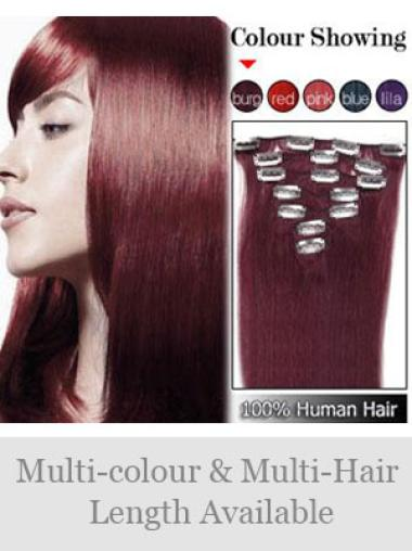 Fabulous Straight Clip In Human Hairpieces For Woman