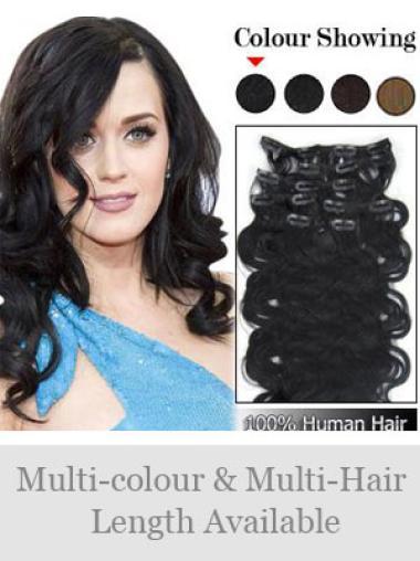 Modern Remy Human Hair Wavy Clip On Wigs For Black Women