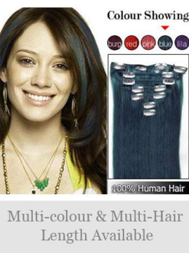Stylish Straight Clip In Human Hairpieces For Woman