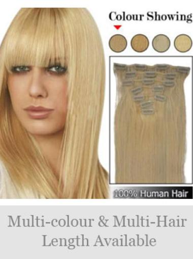 Trendy Remy Human Hair Straight Hair Extensions For Short