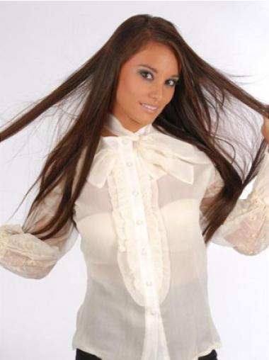 22 Inches Affordable Auburn Straight Half Wig Human Hair Clip In