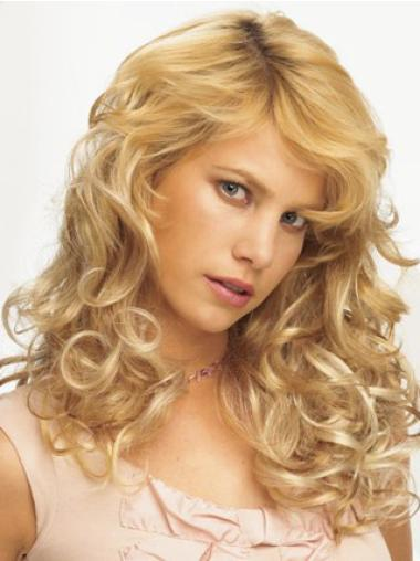 Curly Synthetic Trendy Blonde Extension Hair Wig
