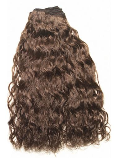 No-Fuss Curly Brown Human Hair Wigs Extensions