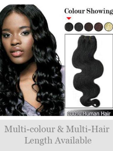 Suitable Wavy Black Hair Extension For Short Hair