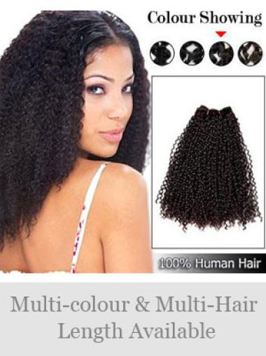Remy Human Hair Curly Brown Real Hair Extensions For Short Hair