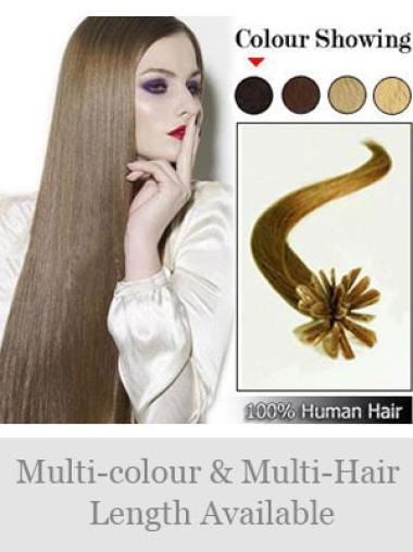 Perfect Straight Remy Human Hair Nail/U Tip Hair Extensions