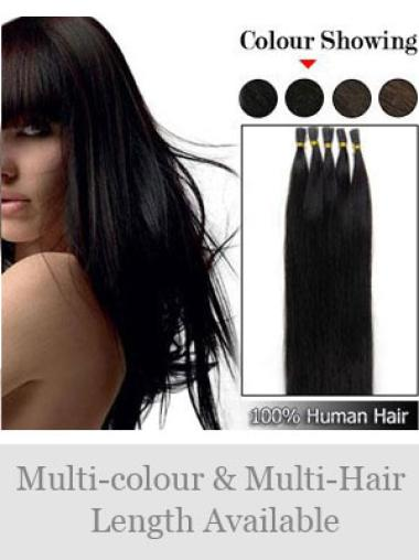 Black Straight Hair Extensions For Thin Short Hair