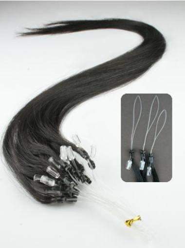 Black Natural Micro Loop Ring Hair Extensions