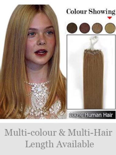 Brown Remy Human Hair New Micro Loop Ring Hair Extensions