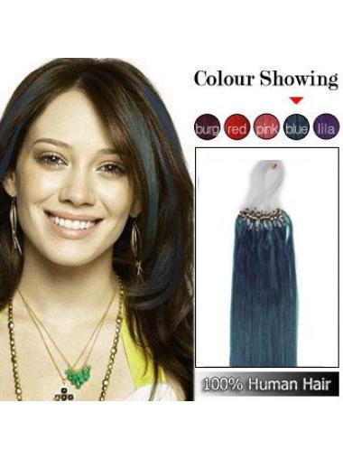 Black Remy Human Hair Soft Micro Loop Ring Hair Extensions