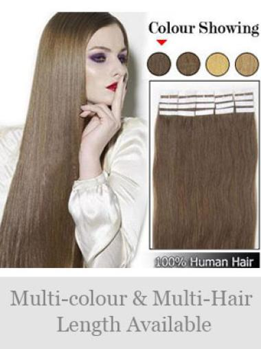 Brown Straight Beautiful Human Hair Wigs Extensions