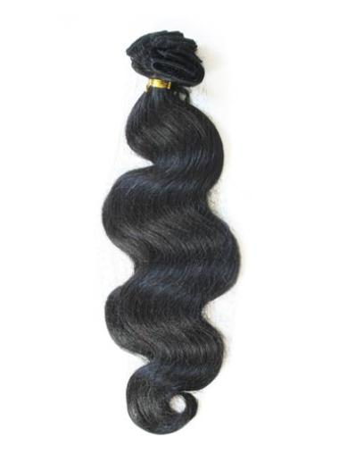 Black Wavy Durable Extensions For Very Short Hair