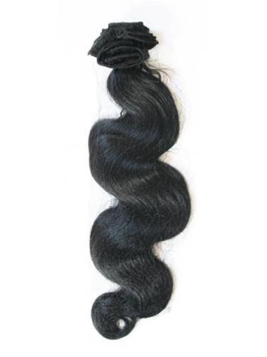 Black Wavy Convenient Extensions For Short Hair