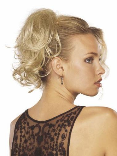 Blonde Synthetic Wavy No-Fuss Hair Extensions For Short Thinning Hair