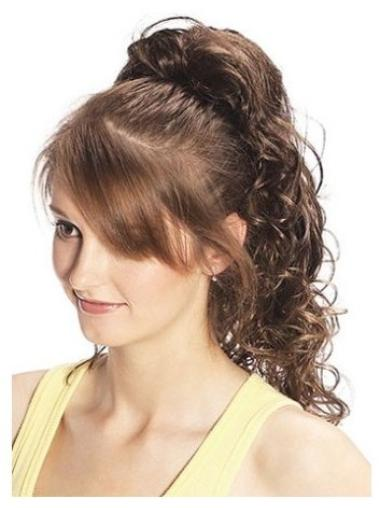 Curly Synthetic Brown Sassy Ponytails