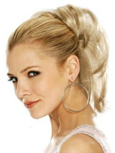 Straight High Quality Blonde Synthetic Hairpieces And Wigs