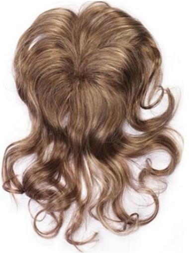 Wavy Hairstyles Brown Synthetic Clip On Wigs For African Women
