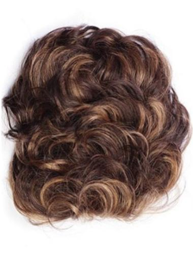 Short Curly Auburn Top Clip In Hair Extensions Wigs